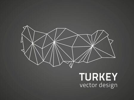 Turkey vector dark mosaic black map