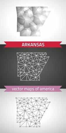 Arkansas graphic arkansas, polygon, gray, mosaic, triangle illustrations Çizim
