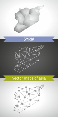 Syria vector graphic gray triangle geometry outline perspective shadow maps
