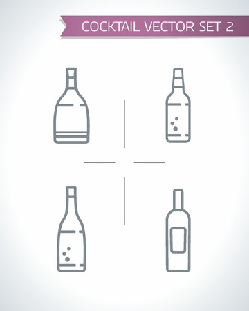 Drinks and Cocktails icon set