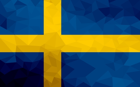 Sweden polygonal flag. Mosaic modern background. Geometric design 版權商用圖片 - 123717788