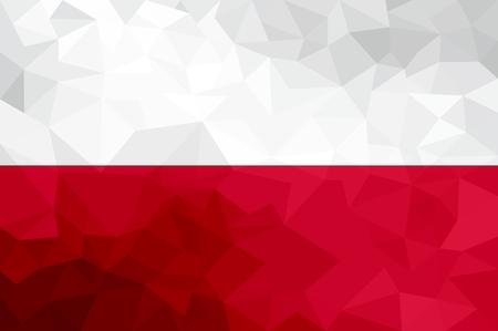 Poland polygonal flag. Mosaic modern background. Geometric design 版權商用圖片