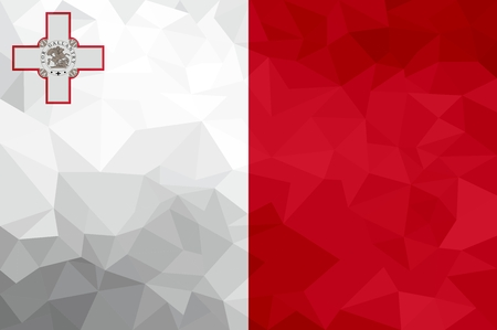 Malta polygonal flag. Mosaic modern background. Geometric design 版權商用圖片