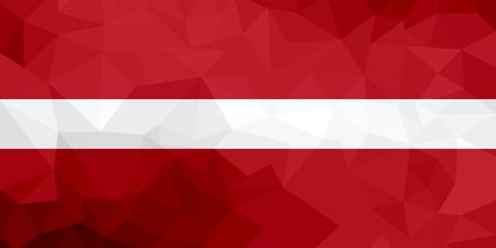 Latvia polygonal flag. Mosaic modern background. Geometric design