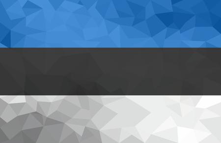 Estonia polygonal flag. Mosaic modern background. Geometric design Standard-Bild - 123717721