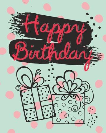 Birthday vector greeting cards Illusztráció