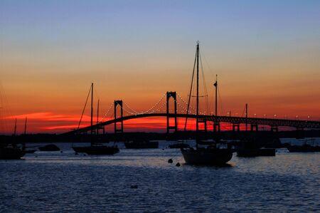ri: sunset in Newport RI
