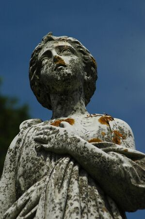 statue of a woman in a cementary Stok Fotoğraf