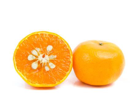 One and half oranges Stock Photo - 16159150