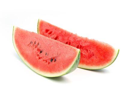 Watermelon slice isolated on white background Stock Photo - 16159153