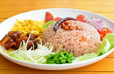 Rice Mixed with Shrimp paste, Thai style