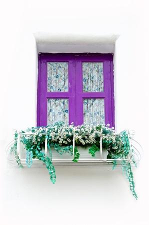 Purple greek style window