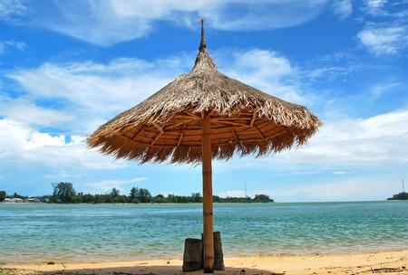 Umbrella on the Tropical beach in Phuket