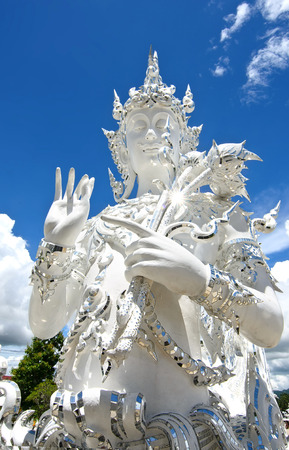 Blessing Angel in Wat Rong Khun, the famous White Temple of Thailand,  Chiang Rai