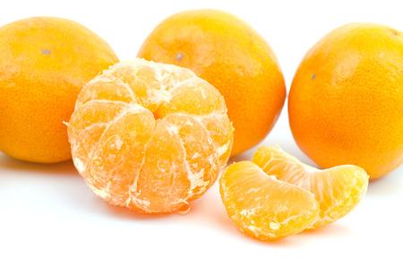 Oranges isolated on white background Stock Photo