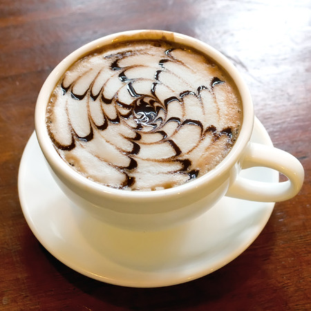 cappuccino with art