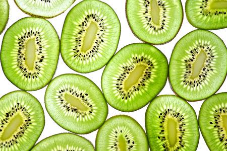 Abstract photo of green kiwi fruit  kiwi fruit isolated on white background photo