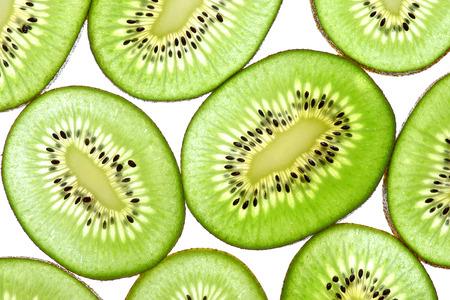 Abstract photo of green kiwi fruit  kiwi fruit isolated on white background