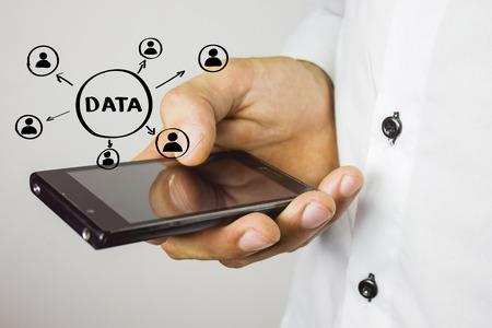 Business button Data Concept icon