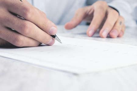 business concept documents on the desktop