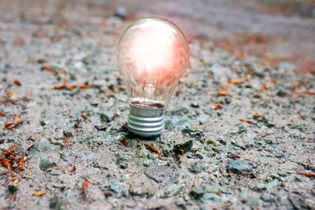 bright glowing bulb - idea and brainstorming