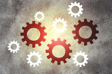 Cogs and gear wheel mechanisms. 版權商用圖片