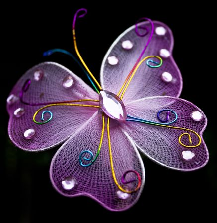 purple butterfly: butterfly ornament