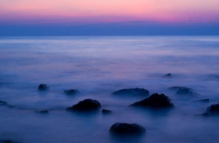 resilient: soft sea by lowspeed shutter Stock Photo
