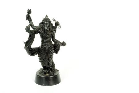 god ganesh: Isolated God Ganesh Metal statue