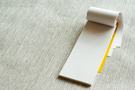 writing pad: Writing pad on grey background