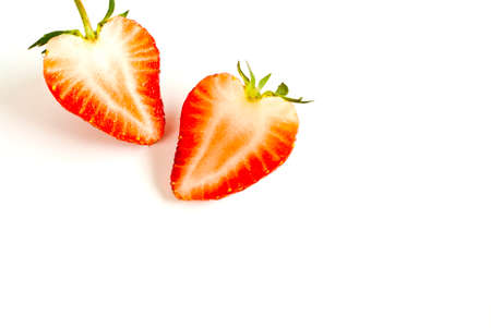 dissect: strawberry Stock Photo
