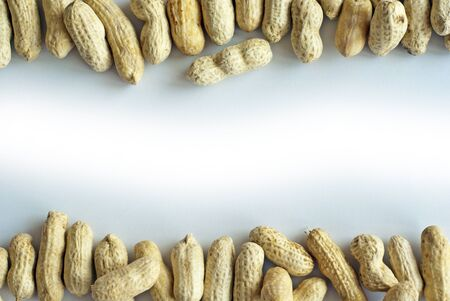 tabulate: Space between Peanut Stock Photo