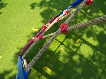 rope ladder: Rope ladder on Playground