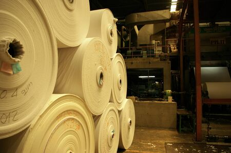 Paper rolled Stock Photo
