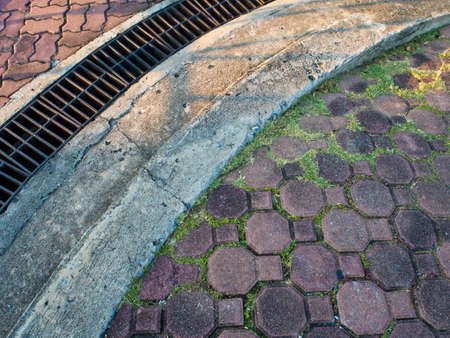 octagon: Octagon block and gutter Stock Photo