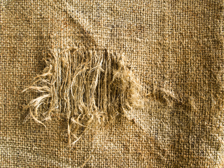 lacking: Hemp sack tattered