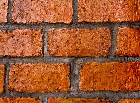 The wall made from Red solid bricks