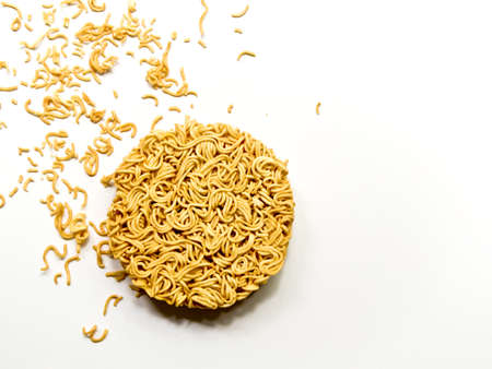 circle shape: Instant noodle in the circle shape