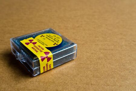 cesium: Small Cesium Radioactive in the Plastic package