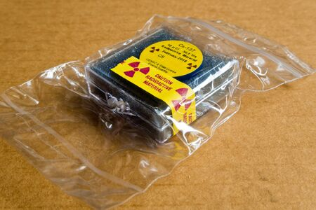 Small Cesium Radioactive in the Plastic package