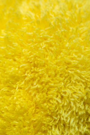 Yellow Fur of fabric surface texture