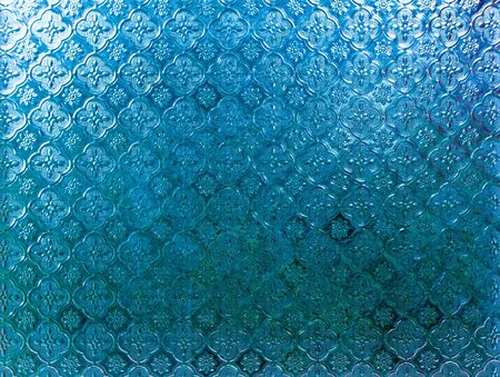 Blue color Frosted glass embossed