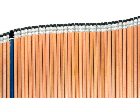 ee: Old EE type pencil in the group of sort orderly new 2B type pencil