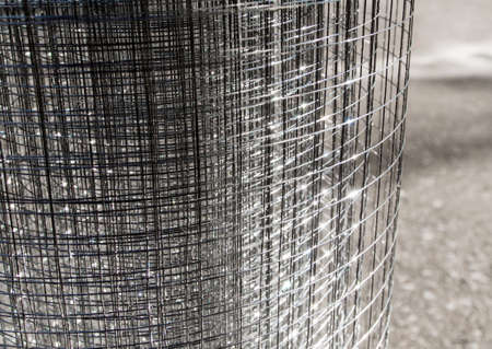 metal grate: Roll loose shiny thin steel wire grating