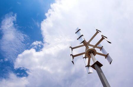 The small size vertical type wind power turbine for countryside little home
