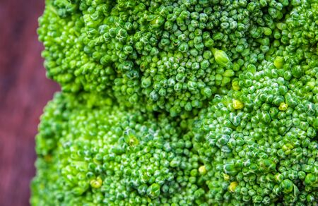 Close up to surface texture of freshness Broccoli vegetable
