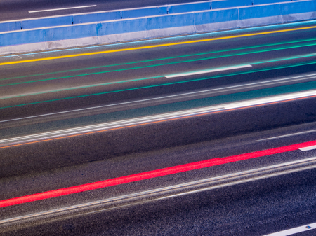 Motion light from cars on the Interstate Highway