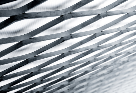 Expanded-exhaust steel sheet close-up, Steel Grating structure Stock Photo
