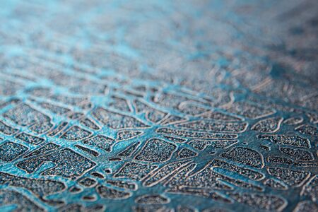 Ragged surface and pattern on foil paper texture for background Standard-Bild