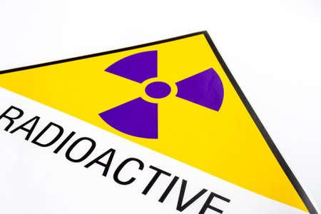 Full-frame Close-up of Radiation symbol at the transportation label sticker Standard-Bild